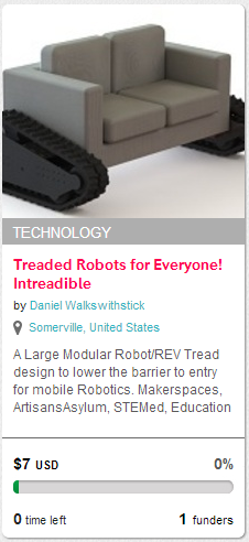 treaded robot