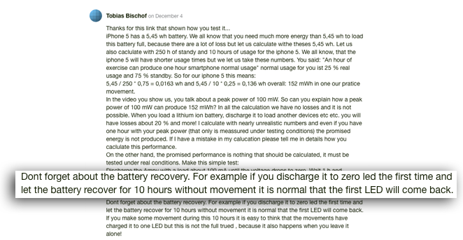 battery recovery